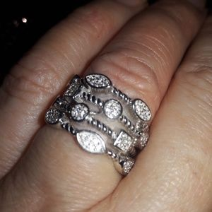 Gorgeous 4 layer ring size 6